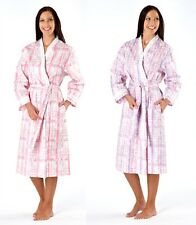Ladies Phoebe Check Kimono Wrap Dressing Gown, Pink Purple, Size 10-24