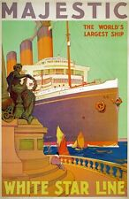 TX232 Vintage White Star Line Majestic Shipping Cruise Travel Poster A2/A3/A4