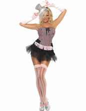 Ladies Sexy Burlesque Corset & Tutu Moulin Fancy Dress Costume