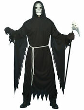 Adult Unisex Grim Reaper Horror Robe Halloween Fancy Dress Outfit Costume