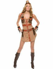 Ladies Sexy Wrangler Cowgirl Wild West Western Fancy Dress Costume