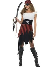 Ladies Caribbean Pirate Wench Buccaneer Party Outfit Fancy Dress Costume