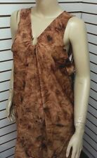 NEW Alicia Simone Brown Tan Swimsuit Cover Up Bathing Suit Plus Size 1X-3X