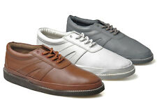Mens New Leather Wide Fitting Carpet Bowls Bowling Shoes  Size 3 - 12