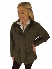 Campbell Cooper Ladies Tweed Shooting Fishing Riding Hunting Jacket Blue New