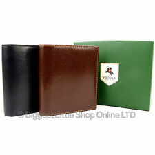 Mens Superb Quality LEATHER WALLET by VISCONTI in Black Or Brown Coin Pocket NEW