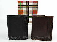 NEW Mens COMPACT Quality BLACK or Brown LEATHER WALLET by MALA Gift Boxed NEO