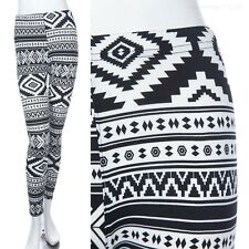 All Over Tribal Print Ankle Length Leggings Skinny Stretchable ONE SIZE