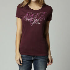 Fox Racing Fox Girl Mastermind Crew Tee Shirt Bordeaux