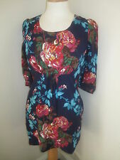 JOULES Wickmere Navy Floral Tunic Top Dress Sz 6, 8 & 10 Free UKP&P RRP£59.95