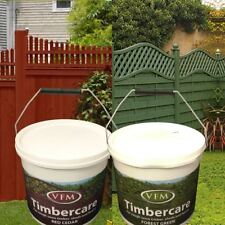 1 Timbercare Quick Dry Garden Fence Protection Green Red Cedar DIY Wood Paint 5L