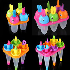 4/6 Cell Frozen Ice Cream Pop Popsicle Maker Mould Jelly Lolly Mold Tray Pan DIY