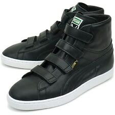 PUMA SUEDE MID V LEATHER Mens ATHLETIC SHOES NEW - BLACK - 352000 02