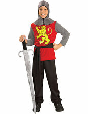 Child Medieval Lord Boys Knight Fancy Dress Kids Book Day Week Costume