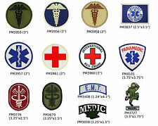 EMT First Aid Patches - Paramedic, Red Cross, Caduceus,Tactical Army Medic Patch