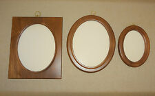 Vintage Walnut Wood Wooden Frame - Choose Small Oval, Medium Oval or Rectangle