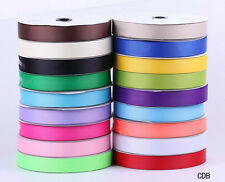Double Sided Satin Ribbon 25mm 100 Yards Various Colours Craft Making Gift Party