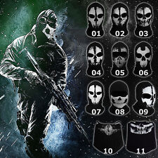 Call of Duty CoD 10 Ghost Skull Face Mask Cosplay Balaclava Skateboard Bike Hood