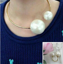 New style hyperbole luxury collar Clavicle charms pearl Necklace Ring