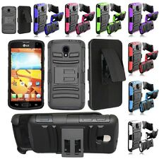 For LG F90 Volt LS740 Cell Phone Case Hybrid Hard Cover Belt Clip Holster Stand
