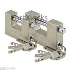 BULK PURCHASE Container garage shed gate shutter padlock. 70mm or 90mm. 4 keys