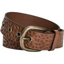 Womens DANBURY Floral Cutout TAN BROWN Leather BELT M XL 30 32 36 38