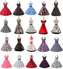 Housewife Vintage Retro Style 50s 60s Swing Formal Party Pinup Rockabilly Dress