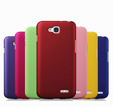 Hard Rubberized Matte Snap-On Cover Case Slim Skin For LG Optimus L90 D410