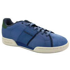 Reebok NPC II Mens Trainers Shoes Leather Navy White New Size 6 7 8 10 11 12 UK