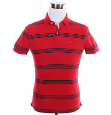 Tommy Hilfiger Men Short Sleeve Stripe Custom Fit Rugby Polo Shirt - $0 Shipping