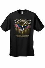 MEN'S T-SHIRT American Pride UNITED STATES OF AMERICA FLAG BALD EAGLE S-3X 4X 5X