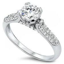 1CT Round Cz Promise Engagement .925 Sterling Silver Ring Sizes 5-10