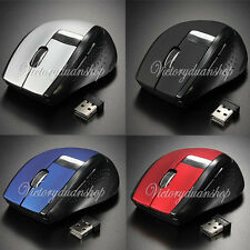 4 Color 2.4GHz Wireless Optical Mouse + USB 2.0 Receiver for PC Laptop Computer