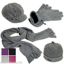 Pia Rossini Ladies Girls Winter Hat Cap Gloves And Scarf Set Womens Fleece