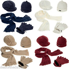 Pia Rossini Ladies Girls Thinsulate Hat Cap Gloves And Scarf Set Womens Fleece