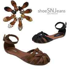 New Women Fashion Huarach Gladiator Ankle Strap Flat D-Orsay Sandal Summer Shoes