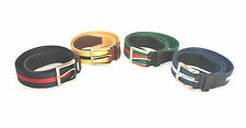 35mm Webbing Belt w/ Leather Tab ends *4 COLOURS* (S,M,L,XL) 0779