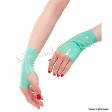 Westward Bound R1471 RUBBER LATEX FETISH CLOTHING MINI MITTS *Mint* ACCESSORY