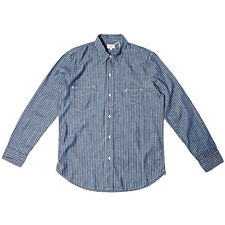 LEVIS VINTAGE CLOTHING 1920S TWO POCKET SUNSET SHIRT STRIPED CHAMBRAY