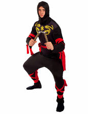 Adult Ninja Fancy Dress Costume Japanese Warrior Martial Arts