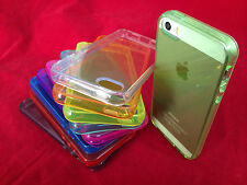 TRANSPARENT SILICONE CRYSTAL CLEAR SLIM GEL TPU SKIN CASE COVER FOR IPHONE 5 5S