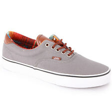 Vans Era 59 C&l Mens Womens Trainers Canvas Grey Brown Red New Shoes 3 8 10 11UK
