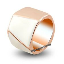 So Cool 18K Rose Gold GP Shell Cocktail Fashion ring M678