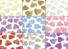 SILK SATIN HEART SHAPED PETALS 9 COLOURS WEDDING CONFETTI TABLE DECORATIONS