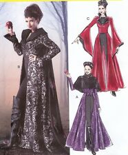 PATTERN for Evil Queen costume McCalls 6818 Sz 4-20 Once Upon A Time Coat Cape