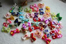 On Sales 40pcs Pet Hair Bows Mix Designs Cute Dog Bows Hot Pet Grooming Product