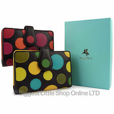 New LADIES LEATHER Polka Purse Wallet by Visconti Gift Boxed TOP QUALITY Design