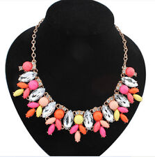 Luxury noble beautiful colorful form water droplets exaggerated necklaces