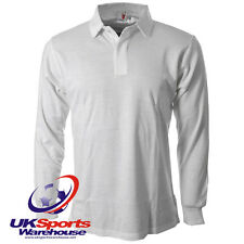 Uwin Plain Long Sleeved White Rugby Jersey / Shirt rrp£20