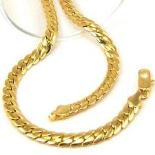 """24""""5mm24g REAL 18K YELLOW GOLD PLATED NECKLACE CHAIN GP,1-3pcs Wholesale Lots"""
